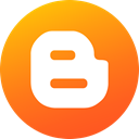 blog, Gradient, Circle, Blogspot, social media, blogger, Social DarkOrange icon