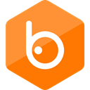 media, social media, Badoo, High Quality, Social, Colored, Hexagon DarkOrange icon