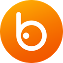 media, Gradient, Circle, Badoo, social media, Social, Colored DarkOrange icon