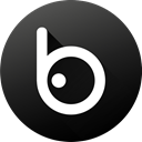 Black white, Social, Badoo, Circle, social media, media, Gradient DarkSlateGray icon