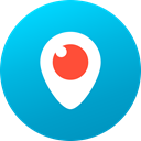 media, Gradient, Circle, social media, Social, Colored, Periscope DarkTurquoise icon