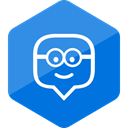 Colored, Hexagon, media, education, social media, Social, edmodo DodgerBlue icon