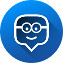 media, Gradient, education, social media, Social, long shadow, edmodo DodgerBlue icon