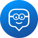 media, Gradient, Circle, education, social media, Social, edmodo DodgerBlue icon