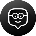 long shadow, Black white, social media, Social, Gradient, education, edmodo DarkSlateGray icon