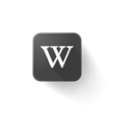 Logo, web, wikipedia, Brand Black icon