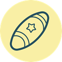 Foot, Ball, sport, Football, throw, Catch, Sports Ball PaleGoldenrod icon