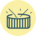 Drums, drum play, fourth of july, Roll, Holiday, Drum, play drums PaleGoldenrod icon