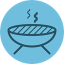bbq, grill, Picnic, barbeq, meat, steak, Barbecue SkyBlue icon