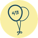 Holiday, festive, fourth of july, multiple, Balloon, balloons, Fest PaleGoldenrod icon