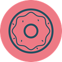 junk food, donut, Eat, food, sweet, Fast food, doughnut LightCoral icon