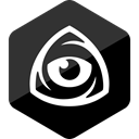 iconfinder logo, icon market, iconfinder icon, internet, Eye, Hexagon, Iconfinder DarkSlateGray icon