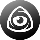 internet, Circle, icon market, iconfinder icon, Eye, Iconfinder, iconfinder logo DarkSlateGray icon