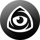 internet, Eye, Iconfinder, long shadow, icon market, iconfinder icon, iconfinder logo Black icon