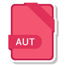 Format, Extension, Aut, paper, File Salmon icon