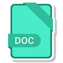 Format, Doc, Extension, document, paper Turquoise icon