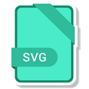 Format, Extension, Svg File, paper, File Turquoise icon