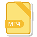 paper, File, Format, Extension, Mp4 Khaki icon