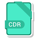 paper, Cdr, File, Format, Extension Turquoise icon