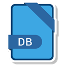 Extension, document, File, db CornflowerBlue icon