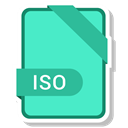 document, File, Extension, Iso Turquoise icon