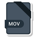 document, File, Extension, Mov DarkSlateGray icon