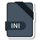 document, File, name, Ini DarkSlateGray icon