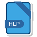 File, name, hlp, document CornflowerBlue icon