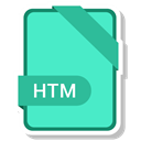 document, File, name, htm Turquoise icon