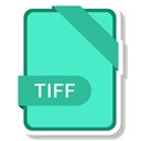 paper, File, Format, Tiff, Extension Turquoise icon