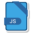 paper, File, Format, Extension, js CornflowerBlue icon