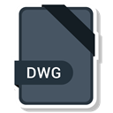 Extension, Dwg, paper, File, Format DarkSlateGray icon