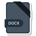 Extension, Docx, paper, File, Format DarkSlateGray icon