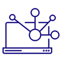 network, Computer, Notebook, web, share, Laptop Icon