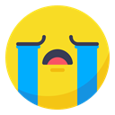 Face, smiley, smile, disappointed, Crying, Cry, Bad Gold icon
