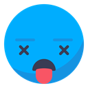 smiley, smile, Dead, kill DeepSkyBlue icon