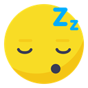 Sleepy, sleep, Rest, tired, Face, smiley, smile Gold icon