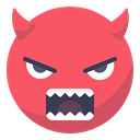 Angry, Face, smiley, smile, grin, Devil, evil Tomato icon