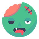 Face, halloween, zombie, undead, smiley, smile, Dead MediumSeaGreen icon