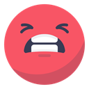 Negative, Irritated, smile, Angry, Bad, Face, smiley Tomato icon
