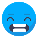 Irritated, Neuter, smile, disappointed, Teeth, Face, smiley DeepSkyBlue icon
