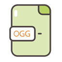 documents, Folders, Ogg, files, ogg icon PaleGoldenrod icon
