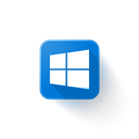 windows, microsoft, Logo Black icon