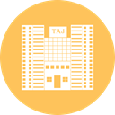 office, Building, city, hotel SandyBrown icon