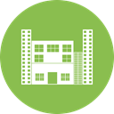 hotel, office, Building, city YellowGreen icon