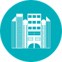 hotel, office, Building, city LightSeaGreen icon