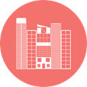 office, Building, city, hotel Salmon icon