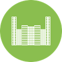 office, Building, city, hotel YellowGreen icon