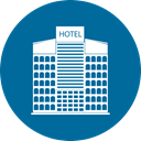 Home, Building, city, hotel Teal icon