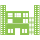 Building, city, Construction, Estate, house, real YellowGreen icon